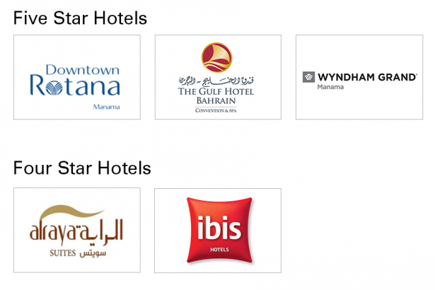 5 star and 4 star hotels
