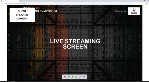 Step4. After joining, a small screen at the top will display what your camera captures and the Main screen will show what is currently played on the live stream.